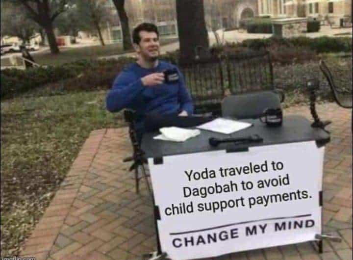 baby yoda meme change my mind