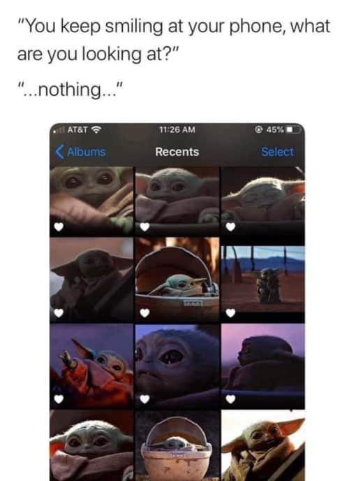 baby yoda meme phone wall paper