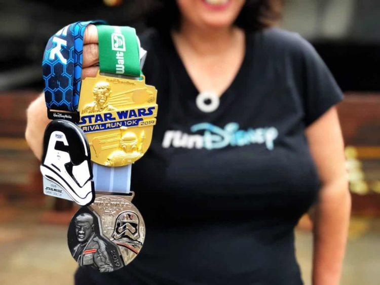 star wars race medals from runDisney