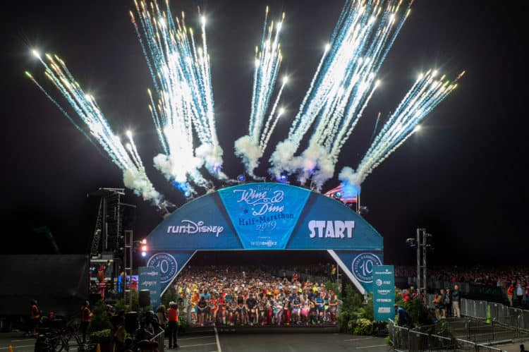 rundisney start line for the wine and dine half marathon weekend