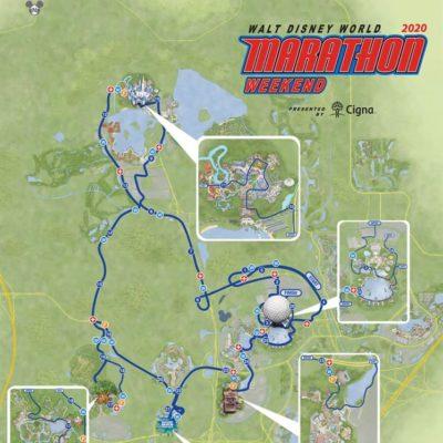 map of the 2020 full marathon at walt disney world real bathrooms