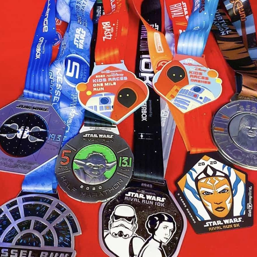 2020 Rival Run Medals for Star Wars Race Weekend