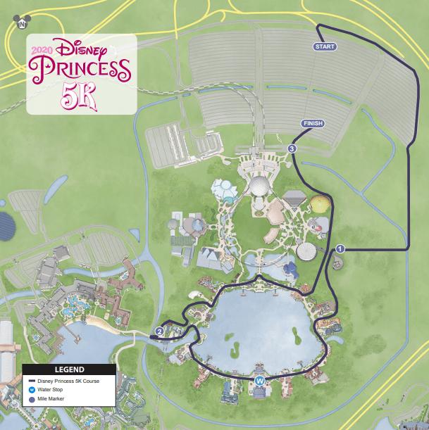 2020 Princess 5K course map