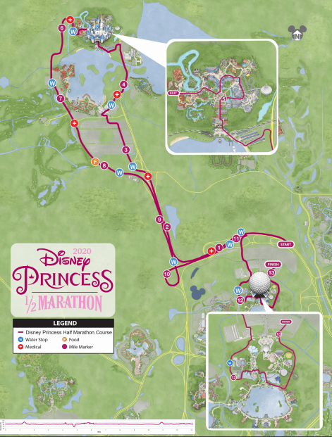 2020 princess half marathon map