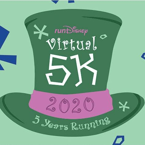 rundisney virtual race 5K mad tea party