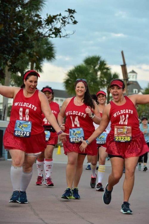 Wildcats running costume at runDisney 10K Disney World