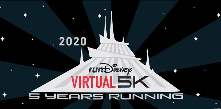 rundisney virtual race 5K space mountain