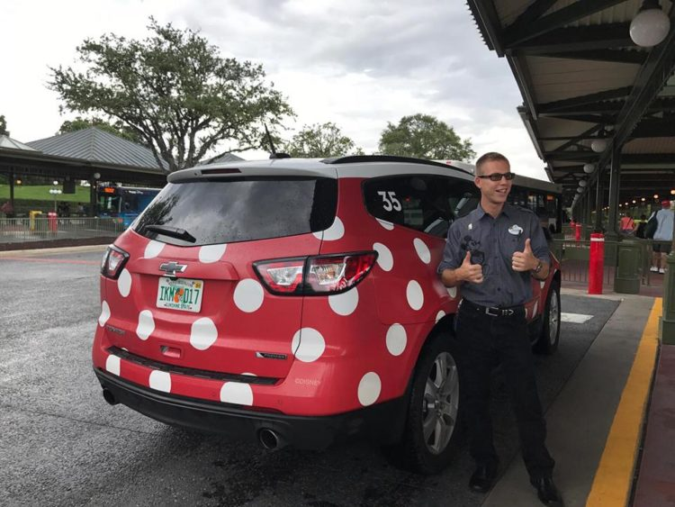Minnie Vans from Lyft Orlando are a good option to get to Hollywood Studios for a Rise of the Resistance Boarding Group