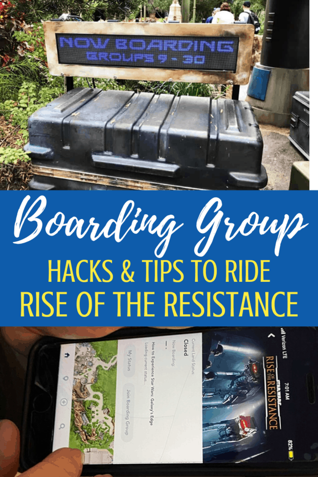 boarding group hacks for rise of the resistance at disney world