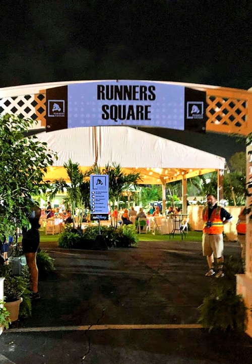 runners square review: entrance sign at runDisney runners square