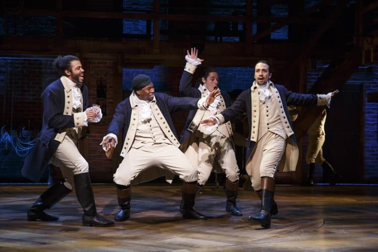 Hamilton released by Disney in October 2021
