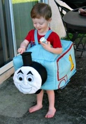 Jacob and Thomas the Tank Engine costume