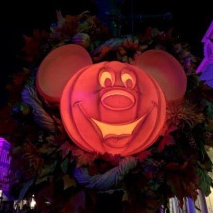 2020 Mickeys not so scary halloween party tickets big pumpkin wreath