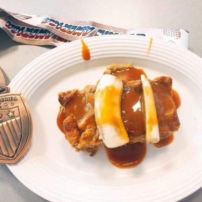 french toast brioche from flos v8 diner at disneyland
