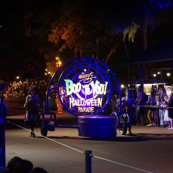Boo to You Parade float at Disney World Halloween Party