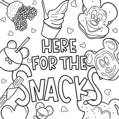 free disney printable coloring pages Disney snacks