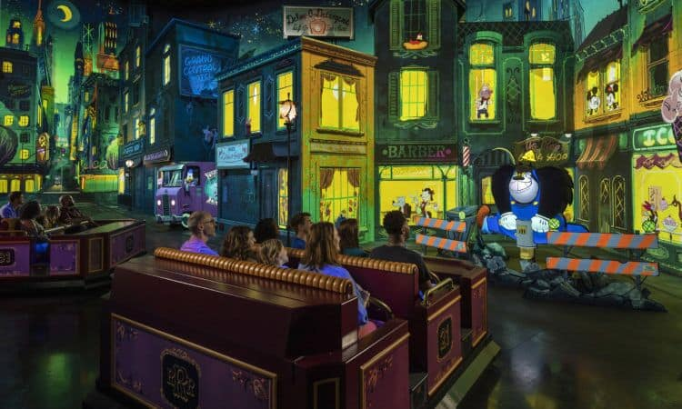Mickey and Minnies runaway railway ride vehicles