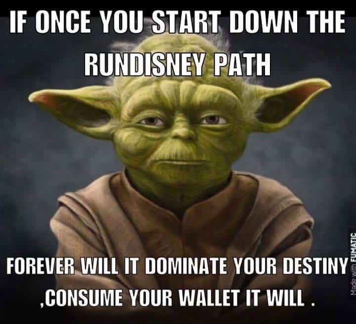 Yoda rundisney path meme