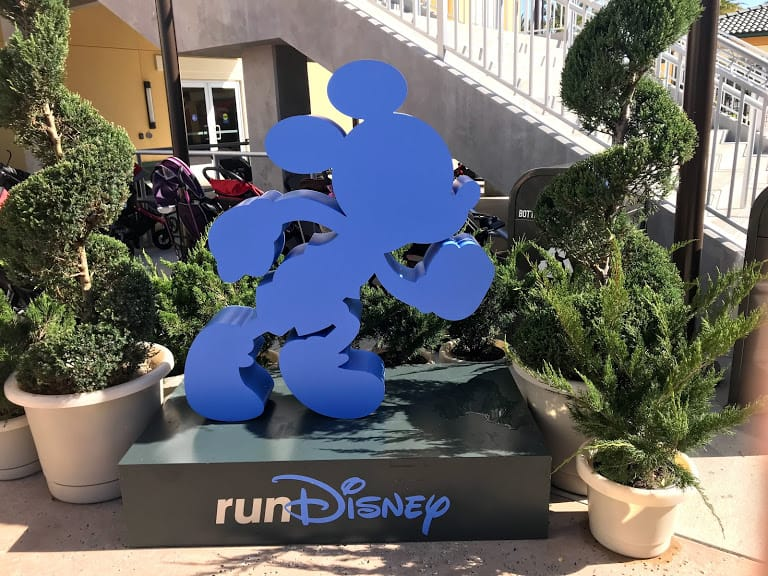 running mickey cut out runDisney expo