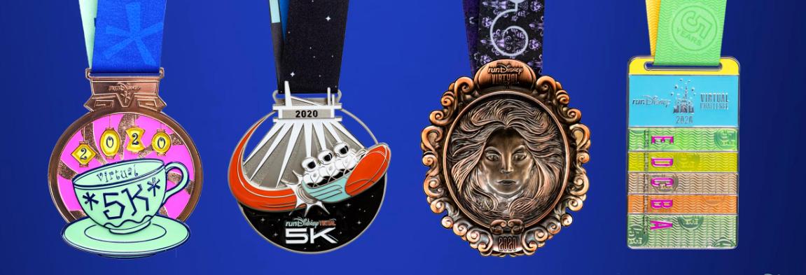 2020 rundisney virtual race series medals