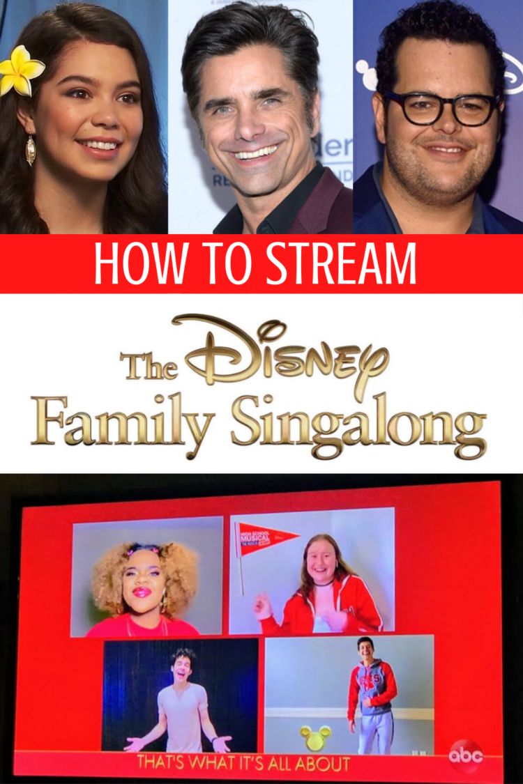 how to stream the Disney family singalong on ABC