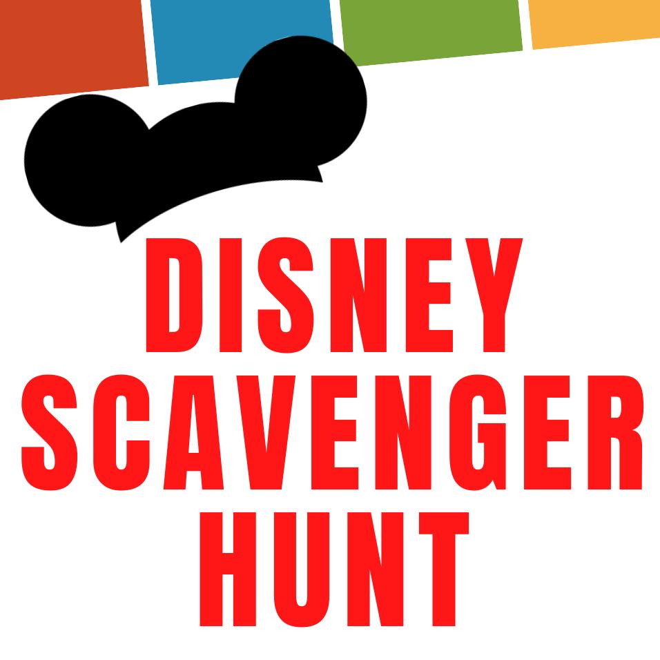 Disney Scavenger Hunt on Zoom at home