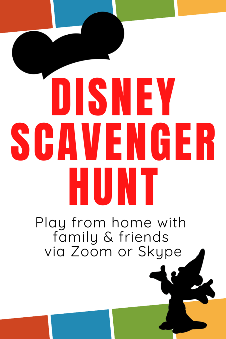 disney scavenger hunt from home family zoom game night