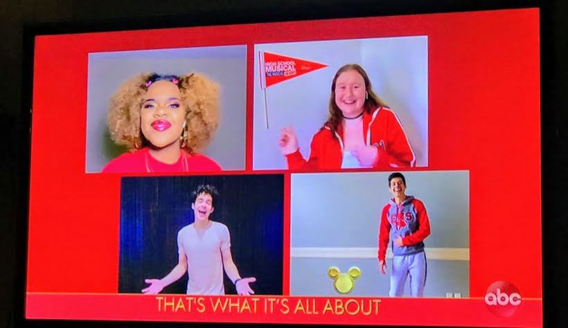 were all in this together high school musical the musical the series cast on Disney Family Singalong