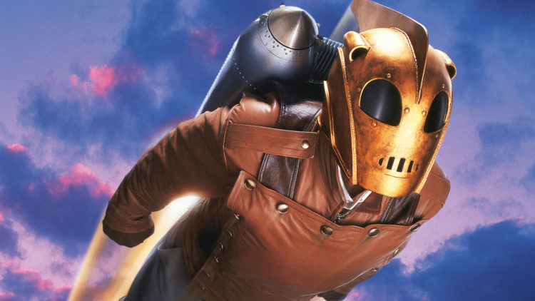 the rocketeer is on the Disney Plus watchlist for Tomorrowland