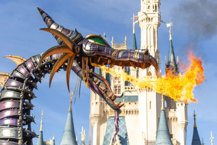Maleficent Returns to Disney's Festival of Fantasy Parade at Mag