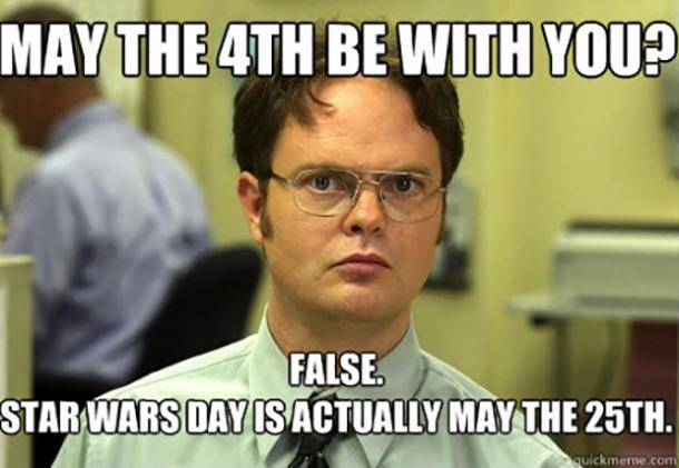 False May the Fourth is not Star Wars Day meme