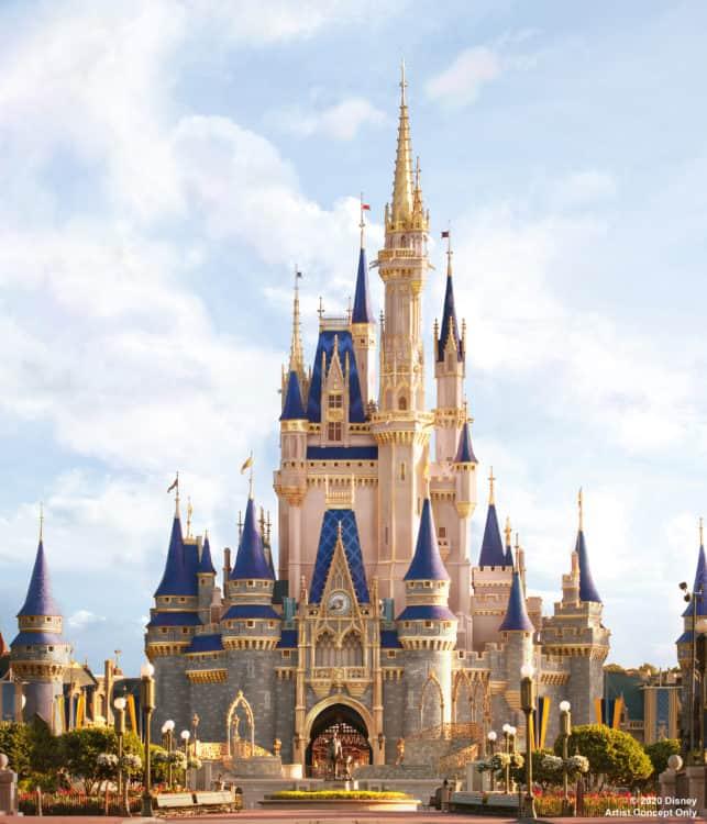 Make it pink Cinderella Castle makeover