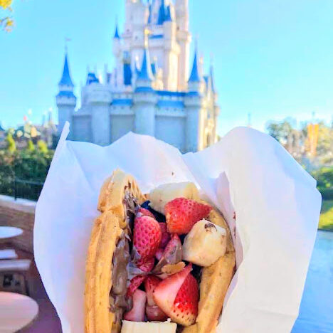 no-guilt disney podcast curbside delivery nutella waffle