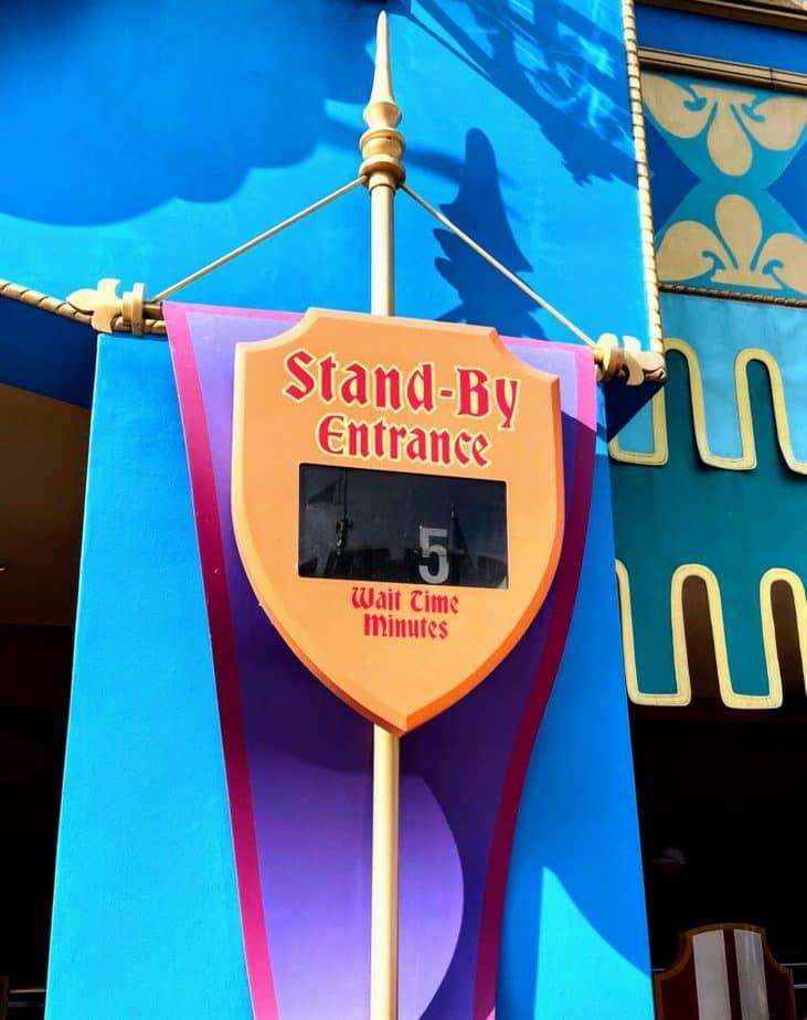 Walt Disney World Peter Pan standby line