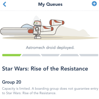 New Rise Of The Resistance Boarding Pass Process