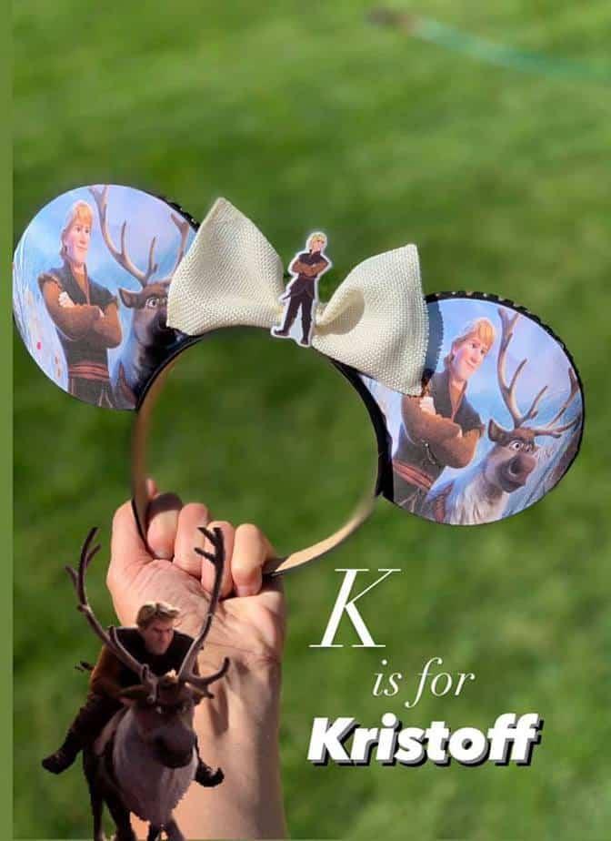 Disney alphabet ears Kristoff