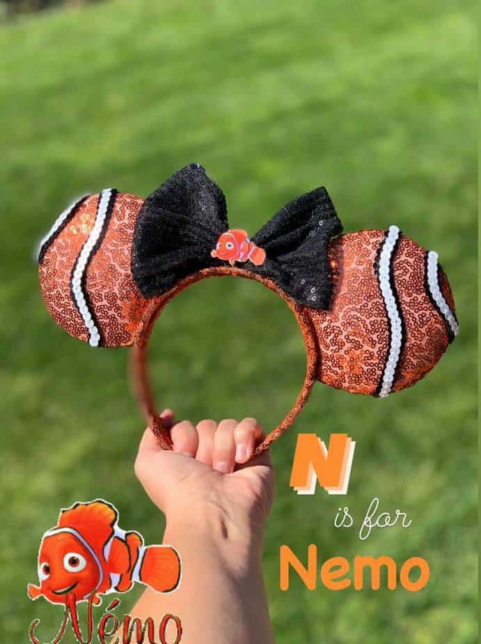 Disney alphabet ears Nemo Ears