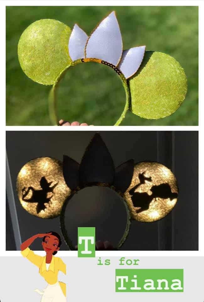 Disney alphabet ears Tiana