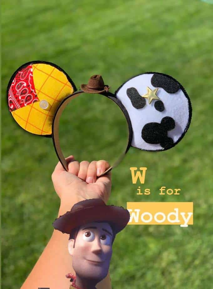 Disney alphabet ears Toy Story Woody
