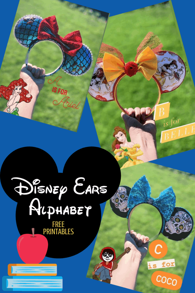 Minnie Ears Disney alphabet free printable download