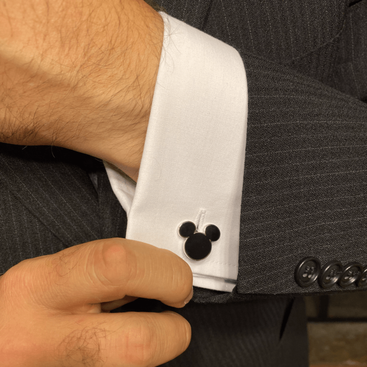 disney mens fashion mickey head cufflinks cufflinks.com
