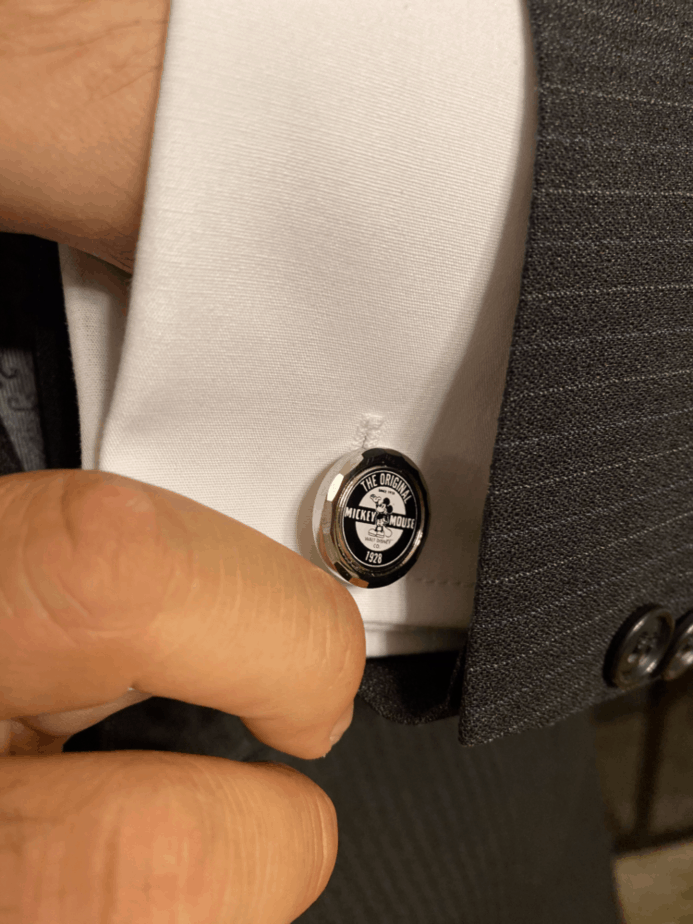 disney mens fashion mickey cufflinks