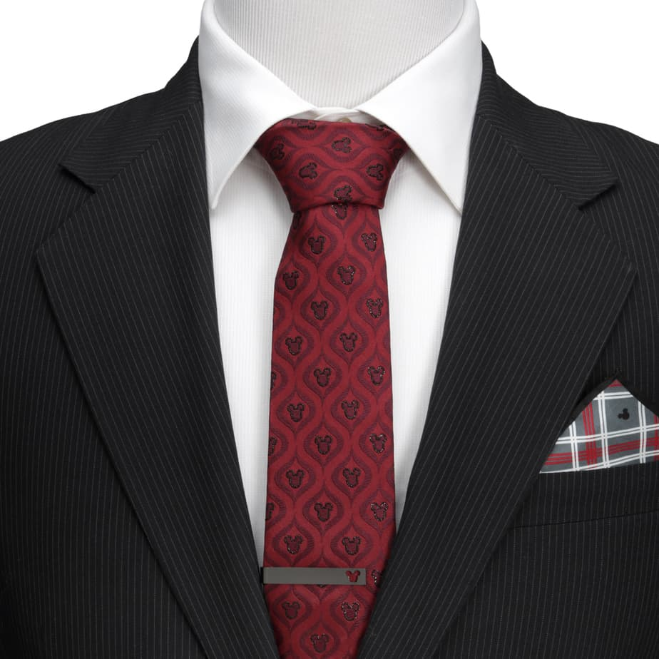 red mickey tie and tie bar from cufflinks.com mens disney fashion