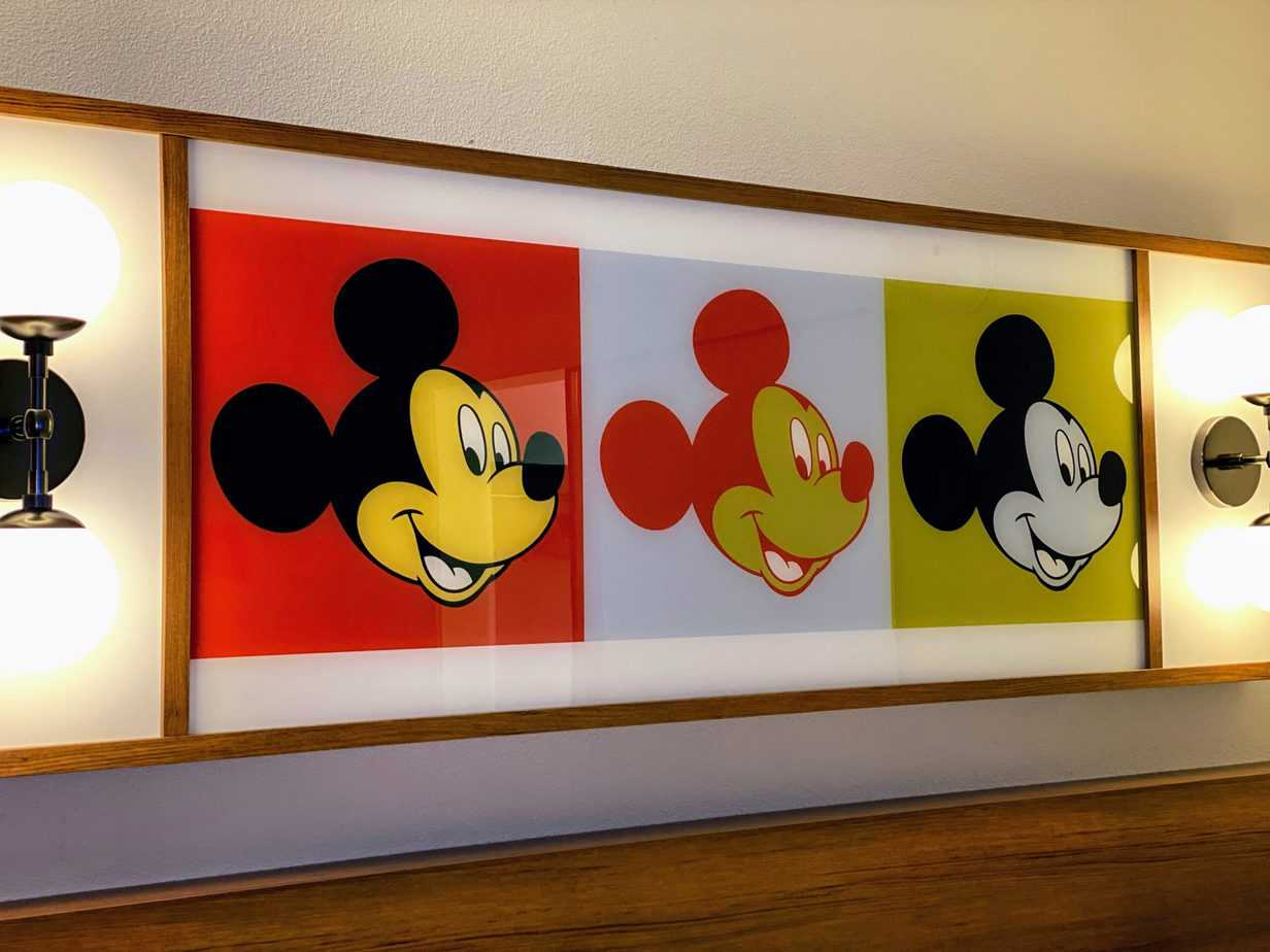 Pop Century room tour art work over bed