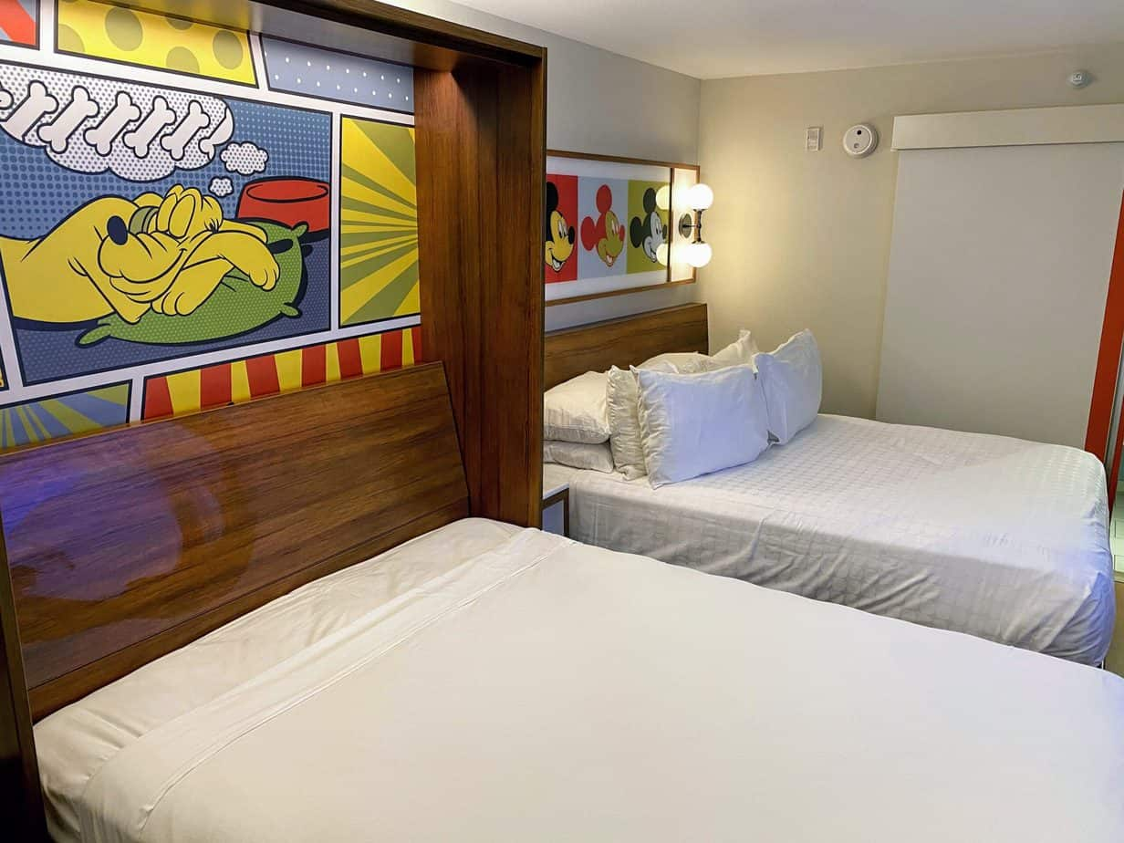 pop century beds room tour