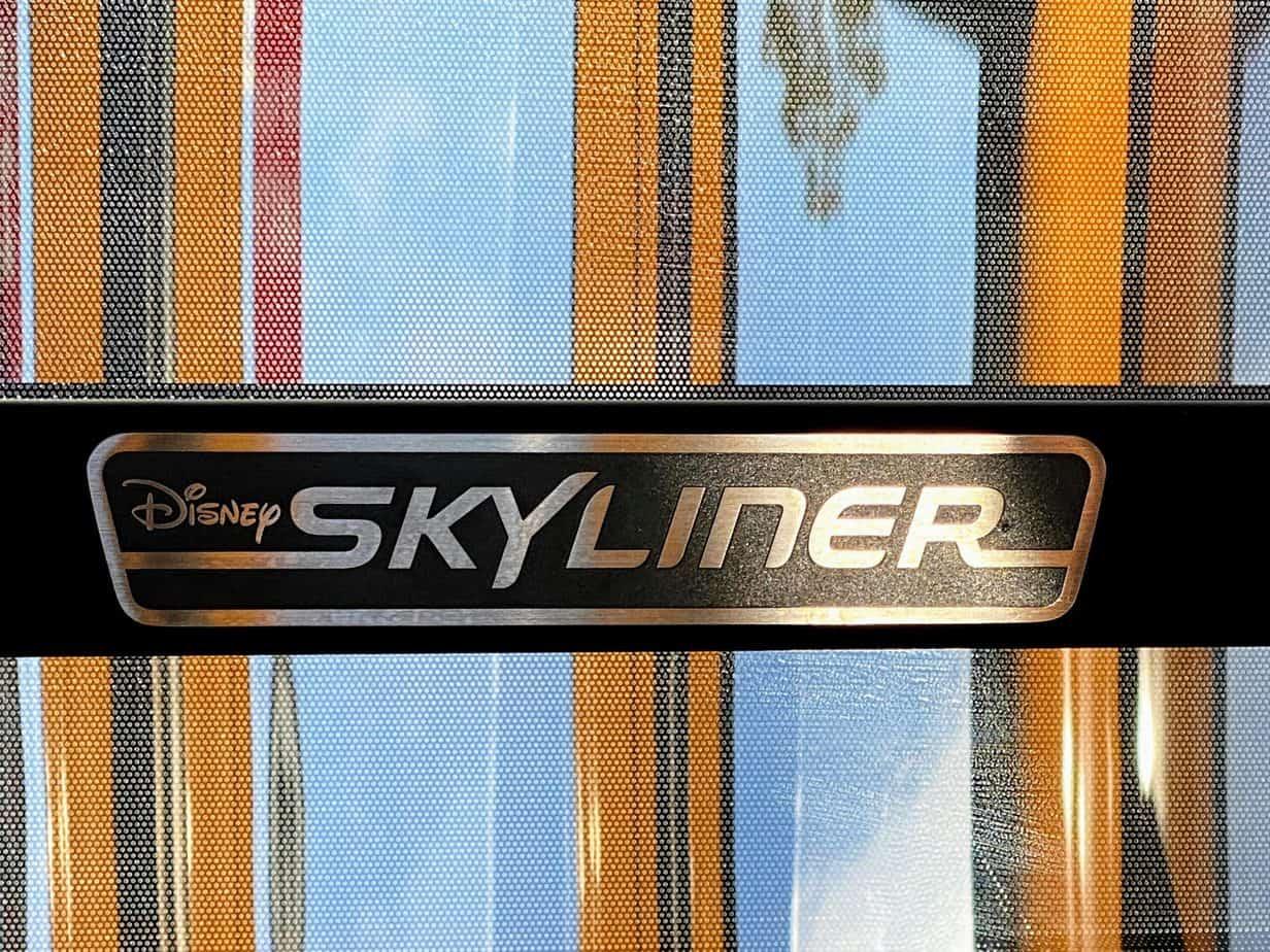 skyliner logo inside the skyliner cabin