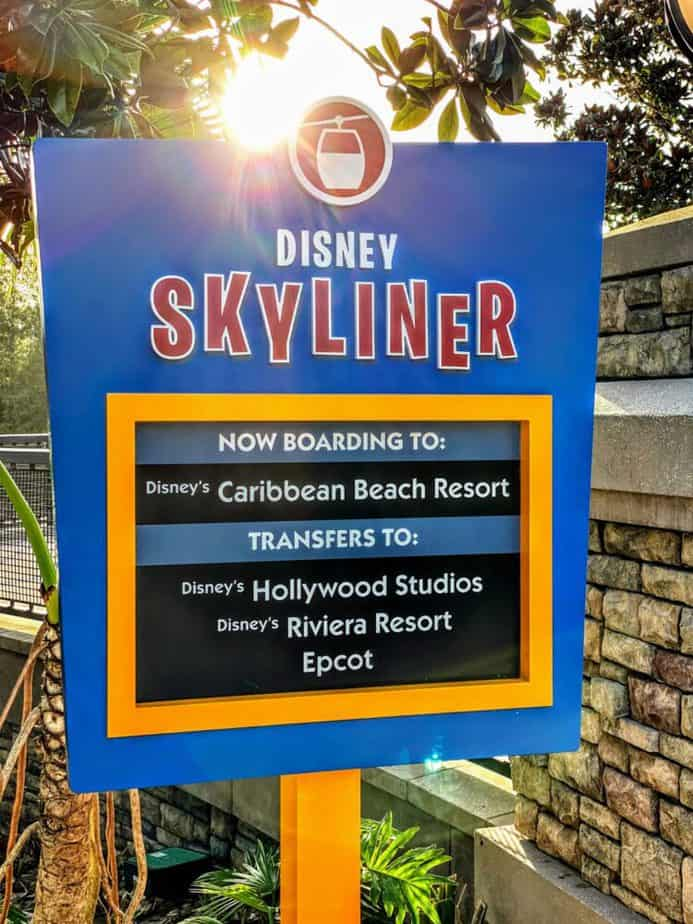 skyliner station at pop century