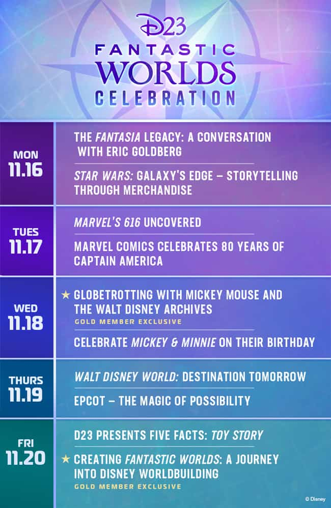 d23 fantastic worlds celebration virtual event line up