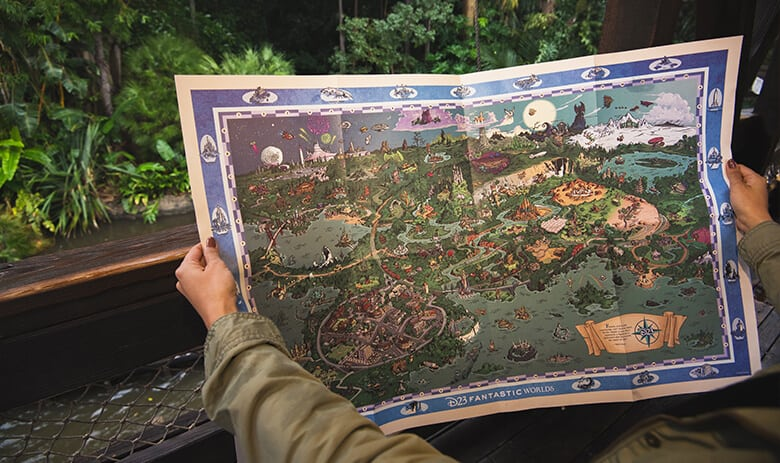 d23 fantastic worlds celebration map