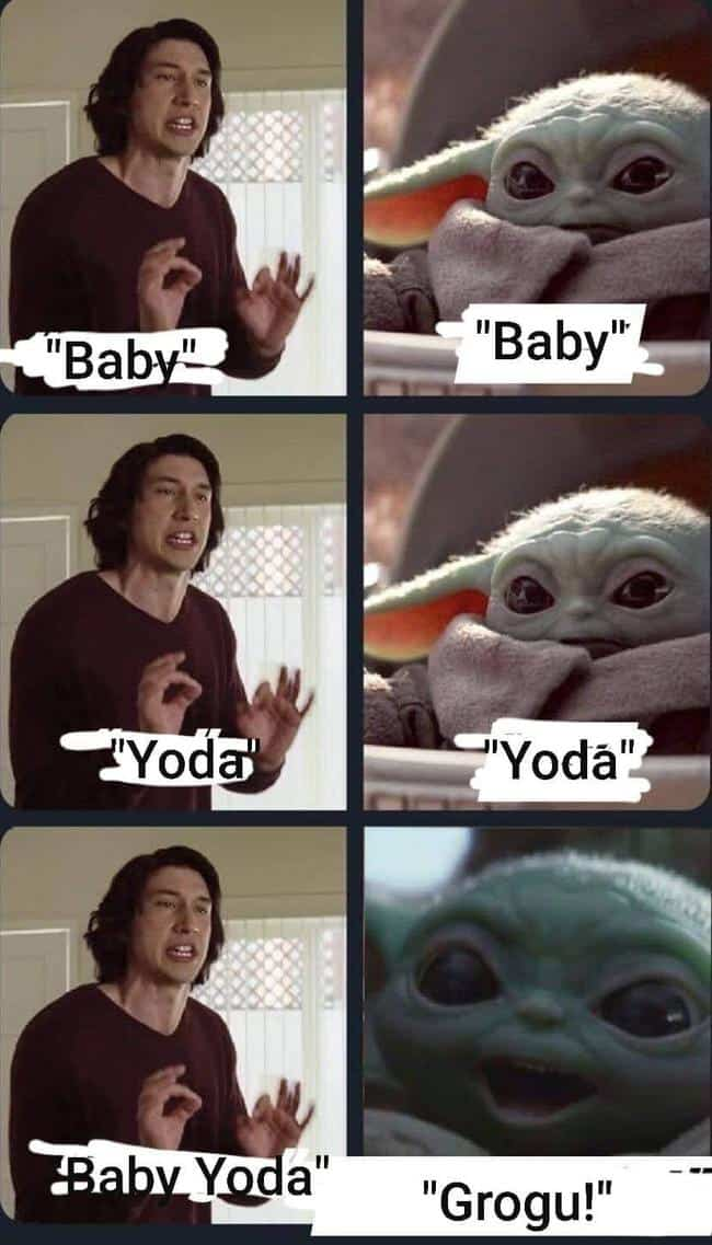 grogu baby yoda name marriage story meme